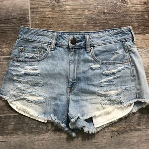 American Eagle High Waisted Festival Denim Shorts